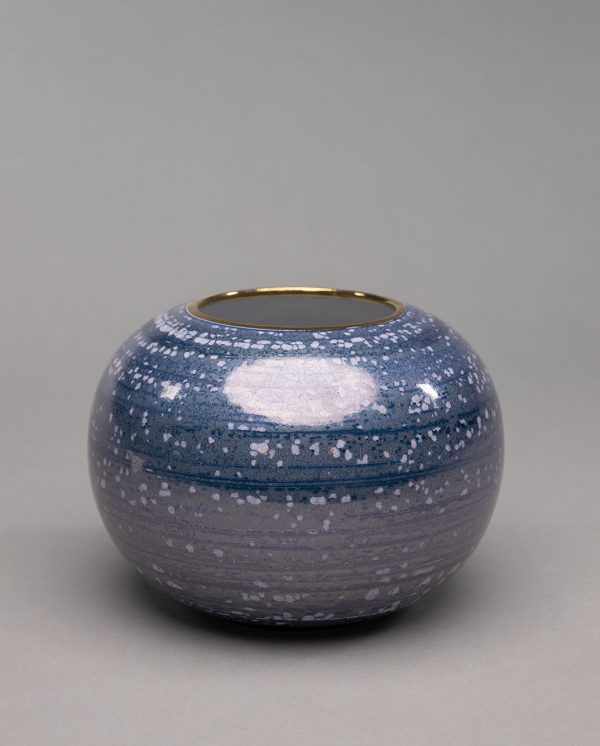 Landbeck Keramik große Vase Blau Luester