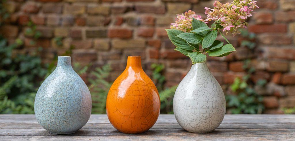 Landbeck -Keramik-Berlin-Vasen-Krakelee